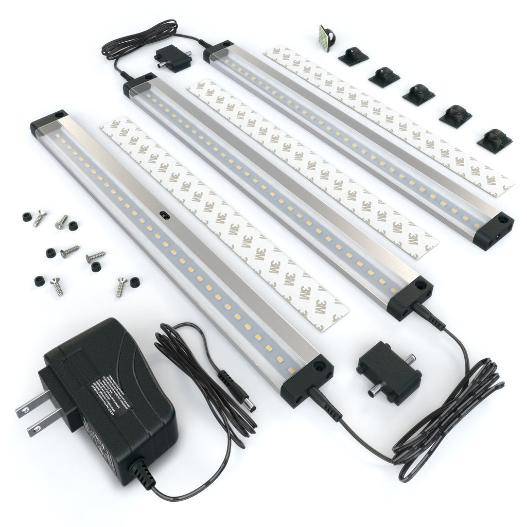 Beau [New] 3 12 Inch Panels LED Dimmable Under Cabinet Lighting   Deluxe Kit