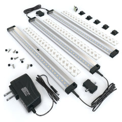 EShine | [New] 3 12 inch Panels LED Dimmable Under Cabinet Lighting - Deluxe Kit