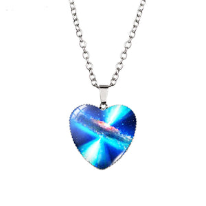 Heart Shaped Galaxy Necklace