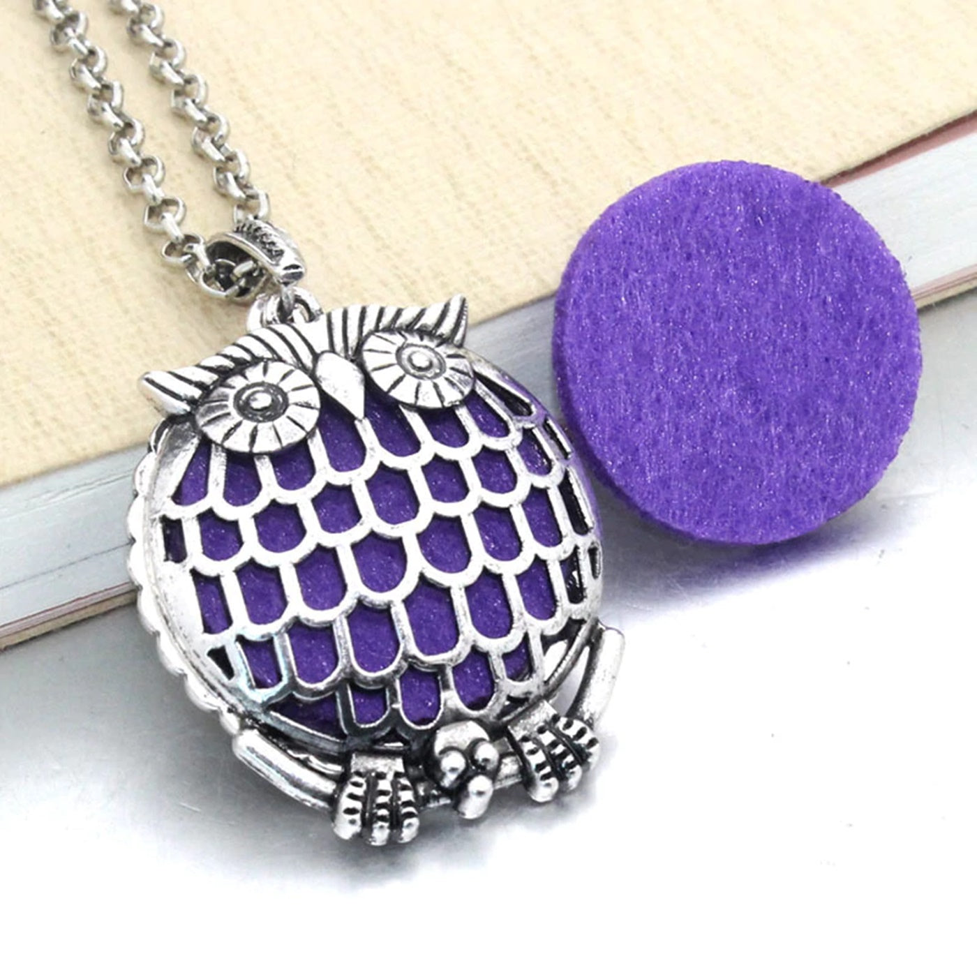 Puffy Owl Aromatherapy Diffuser Necklace