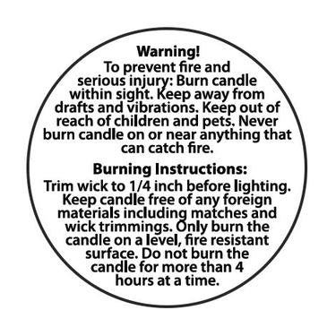 Candle Warning Stickers, Set of 10