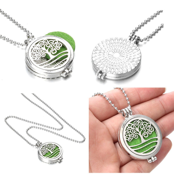 Modern Tree of Life Aromatherapy Diffuser Necklace