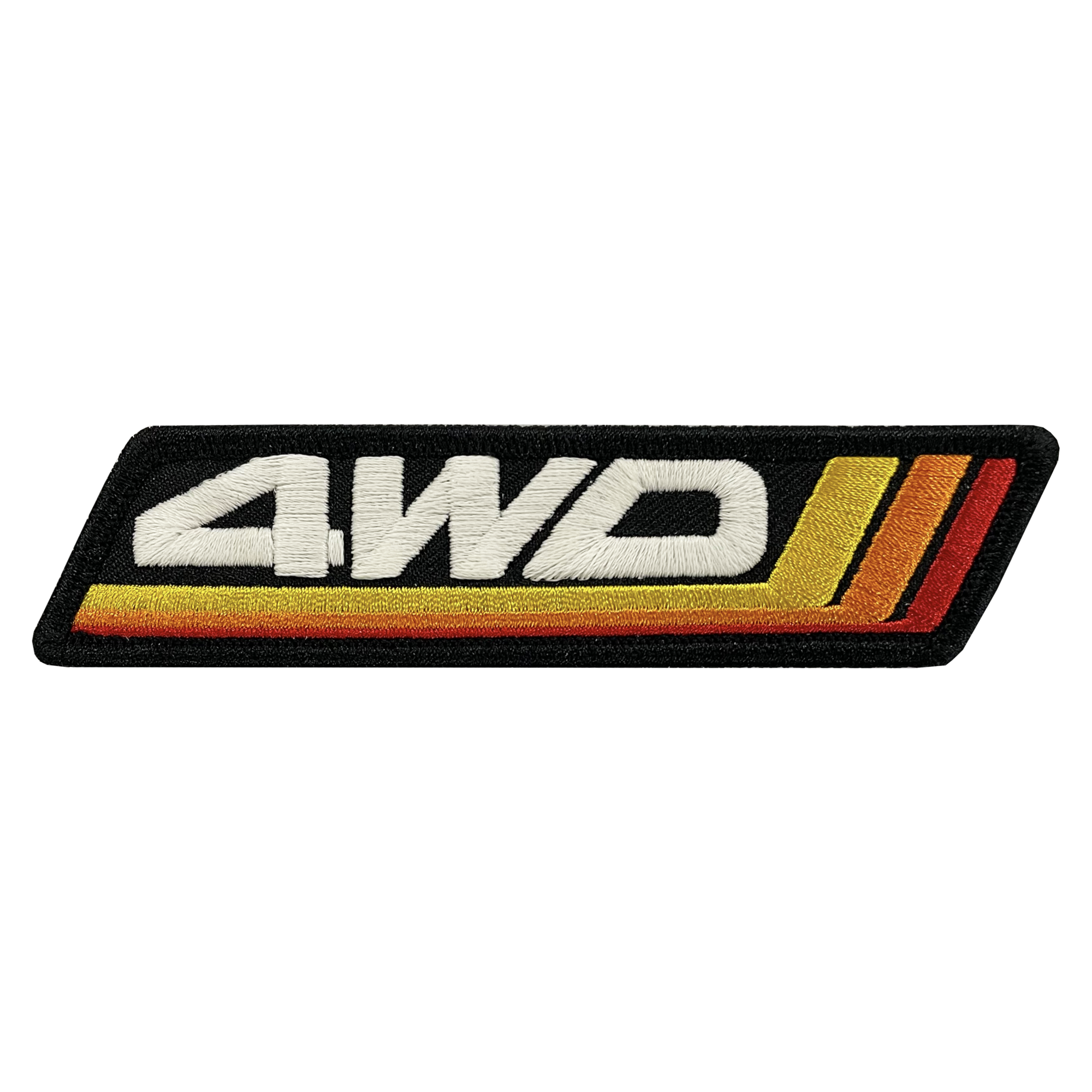 4WD Retro Stripes Patch