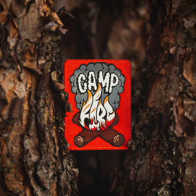Camp Fire Logo Orange Laser Cut Patch
