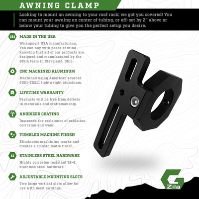Awning Mount Tubular Clamps Standard