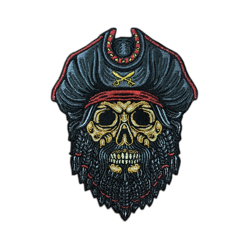 Blackbeard Pirate Skull Patch