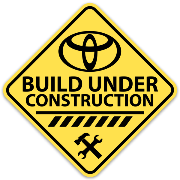 Build Under Construction Sticker