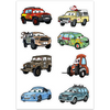 Cars Sticker Sheet