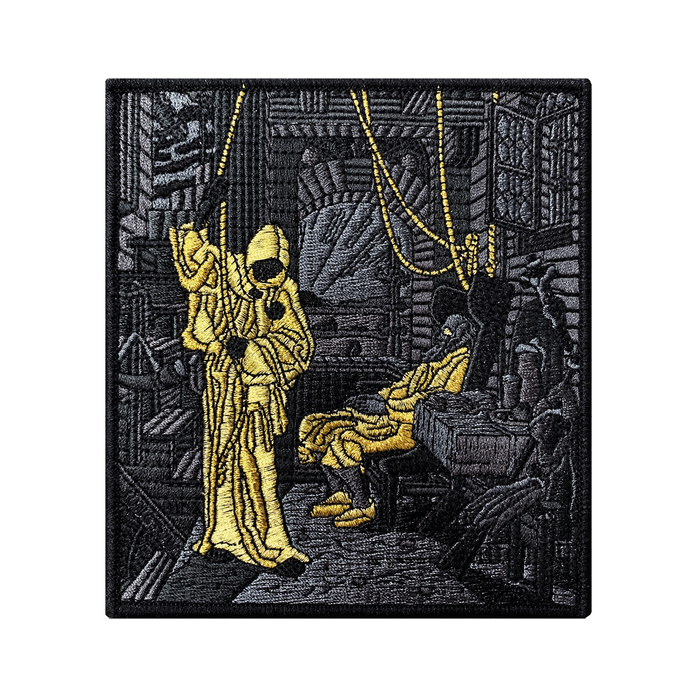 Death as a Friend Gold Subdued Patch
