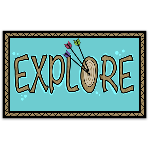 Explore v.Arrow Sticker