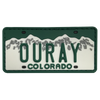 Ouray License Plate Patch
