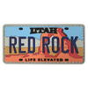 Red Rock License Plate Patch
