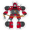 Robot Tacoma Sticker