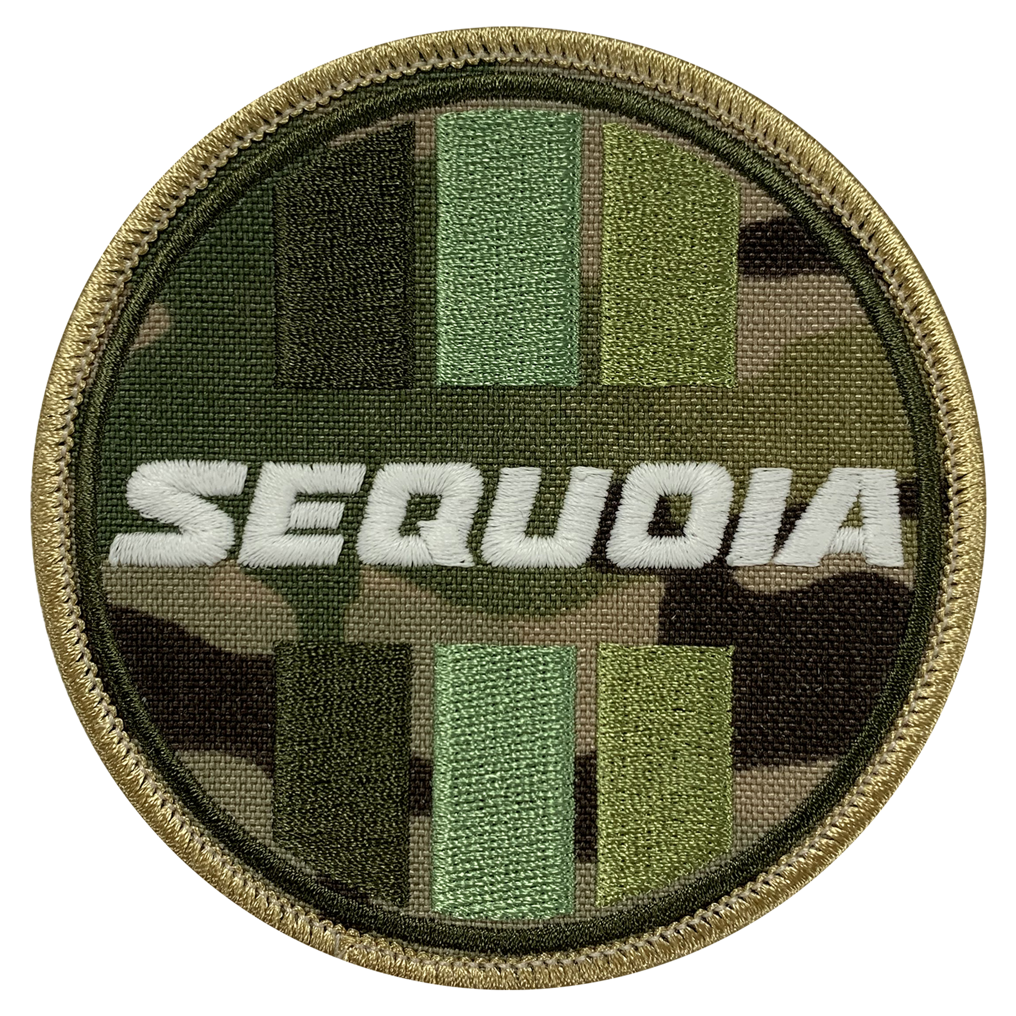 Sequoia Camo Circle Patch