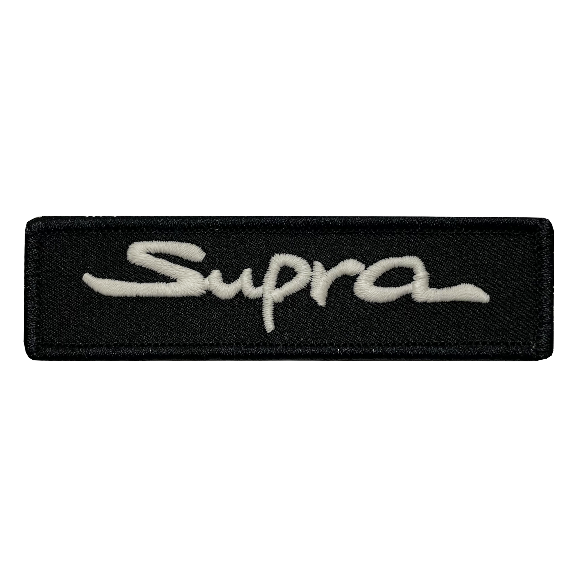 Supra Black Name Tape Patch