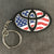 Flag Oval Keychain