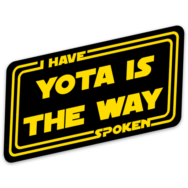 Yota is the Way Sticker