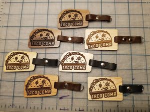 Wooden Taco Keychains