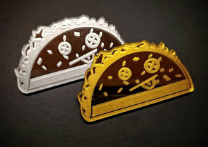 Gold/Silver Mirror Tacos Pair