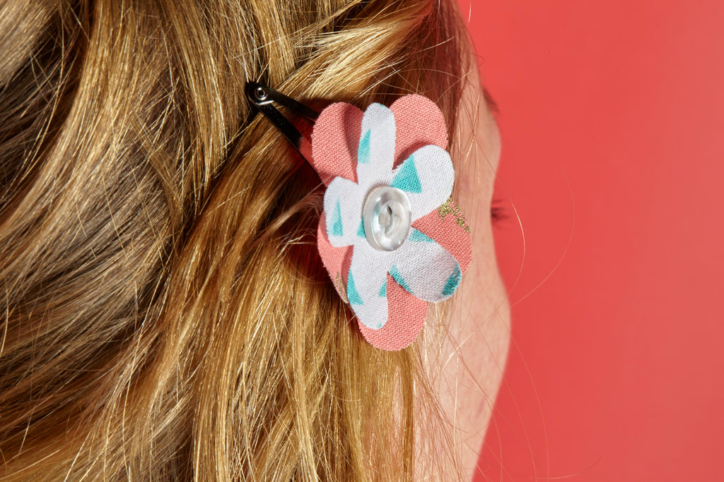 Beautiful Fabric Flowers for Your Hair—Fast!
