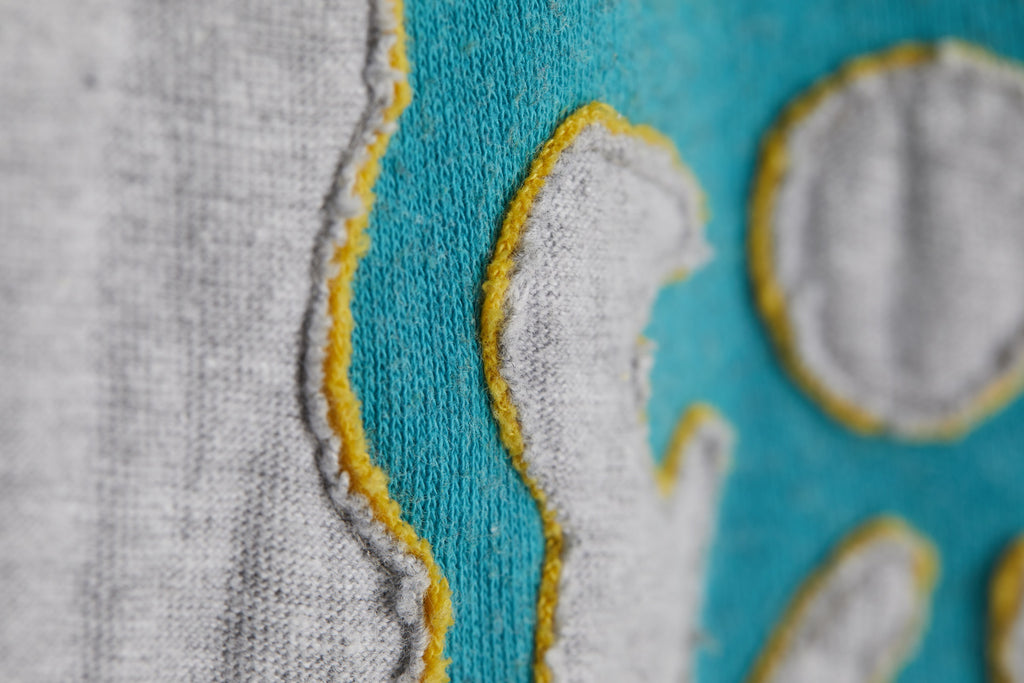 How to Machine Sew a Reverse Appliqué Knit Wrap