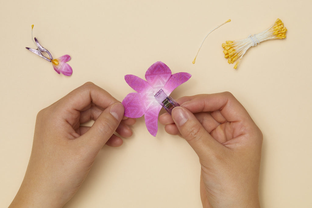 How to Make Realistic Fabric Orchid Flowers (Free Petal Template)