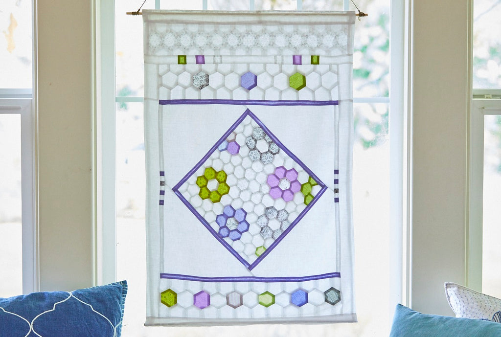 English Paper Piecing Made Easy. A Hexi Curtain in Half the Time!