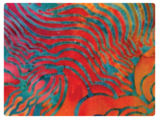Colorful Batiks Terial Magic Treated