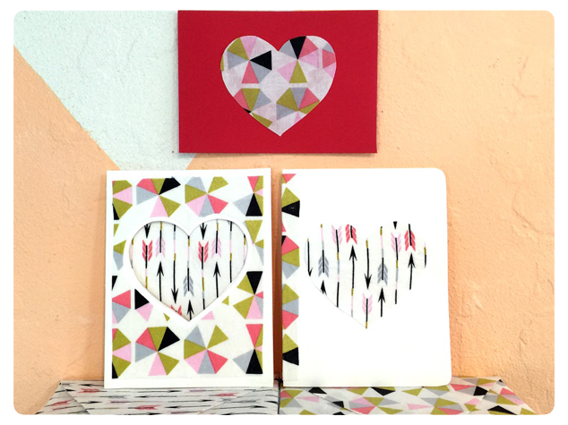 Handmade Fabric Cards & Envelopes