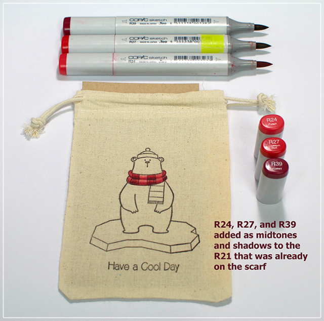 Color Gift Bag With Copic Markers