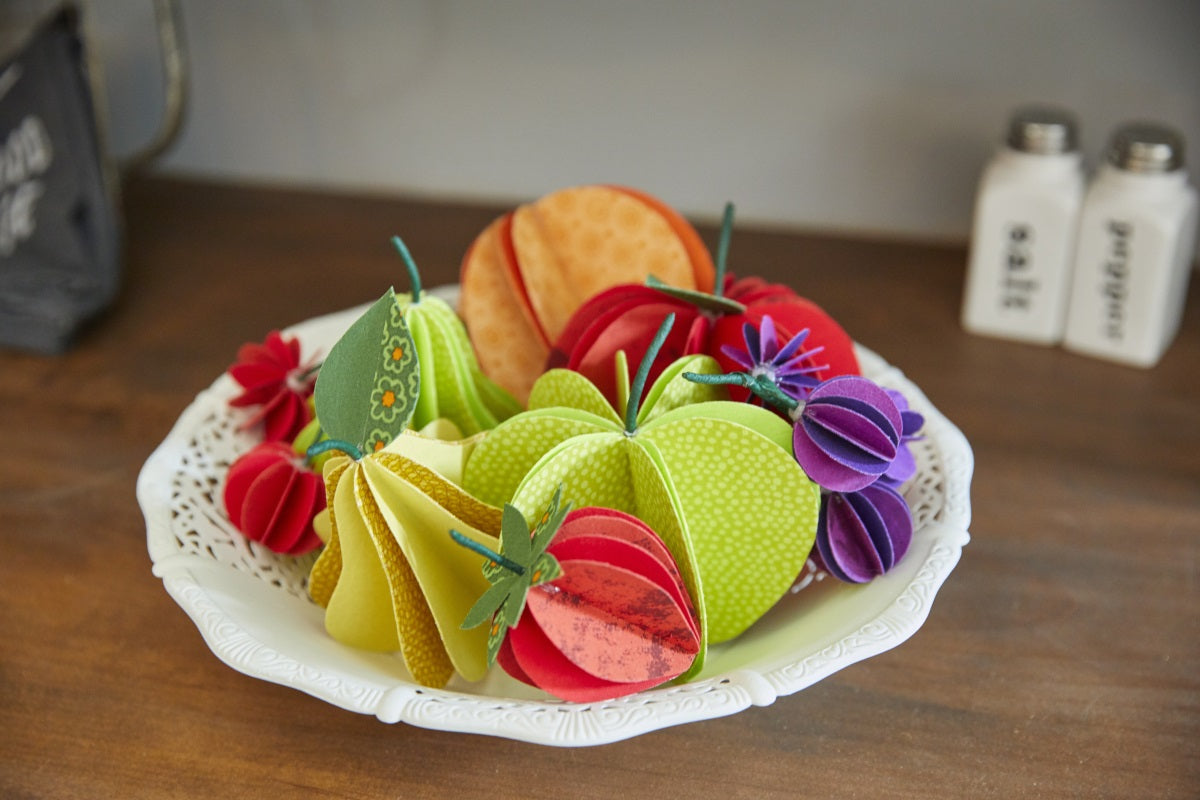 DIY Fabric Fruit Bowl Centerpiece