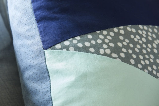 Cool Geometric Pillowcase Easy Bias & Zipper Sewing