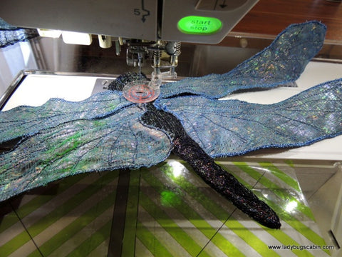 Zigzag Stitching Dragonfly Wings
