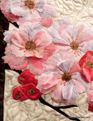 Cherry Blossom Dimensional Quilting