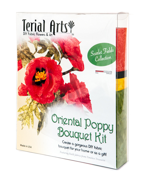 Terial Magic Oriental Poppy Bouquet Kit