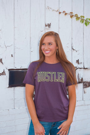Plum Hustler Graphic Tee