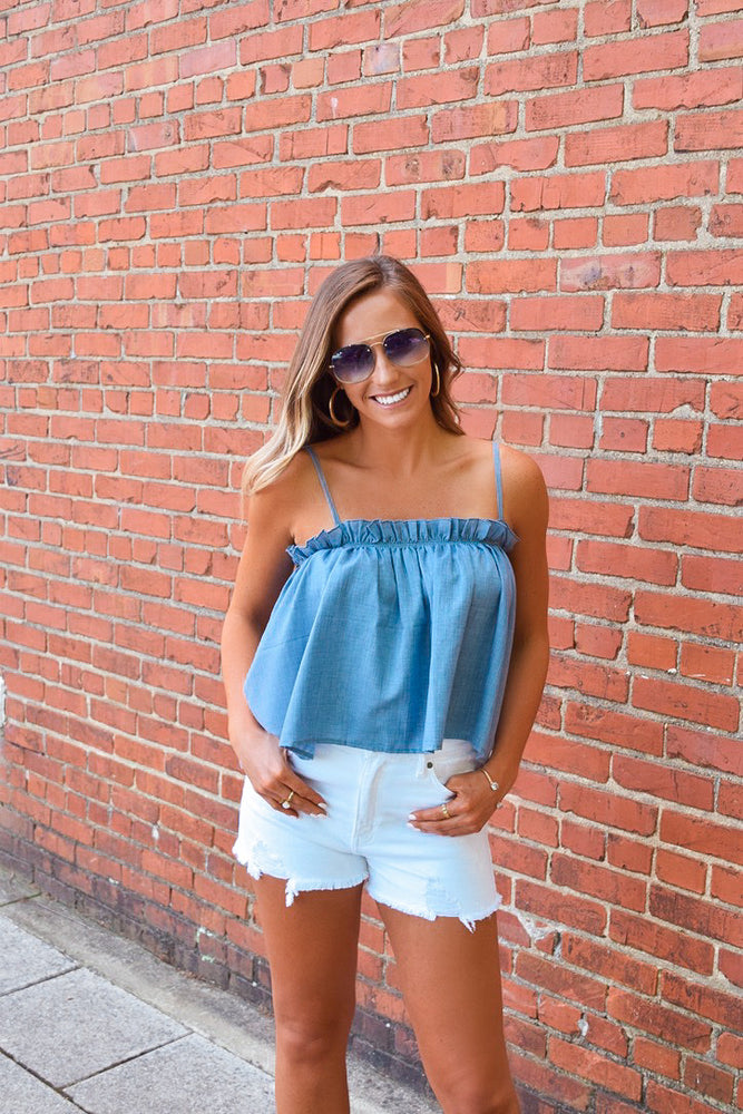 Oceanside Top-Blue