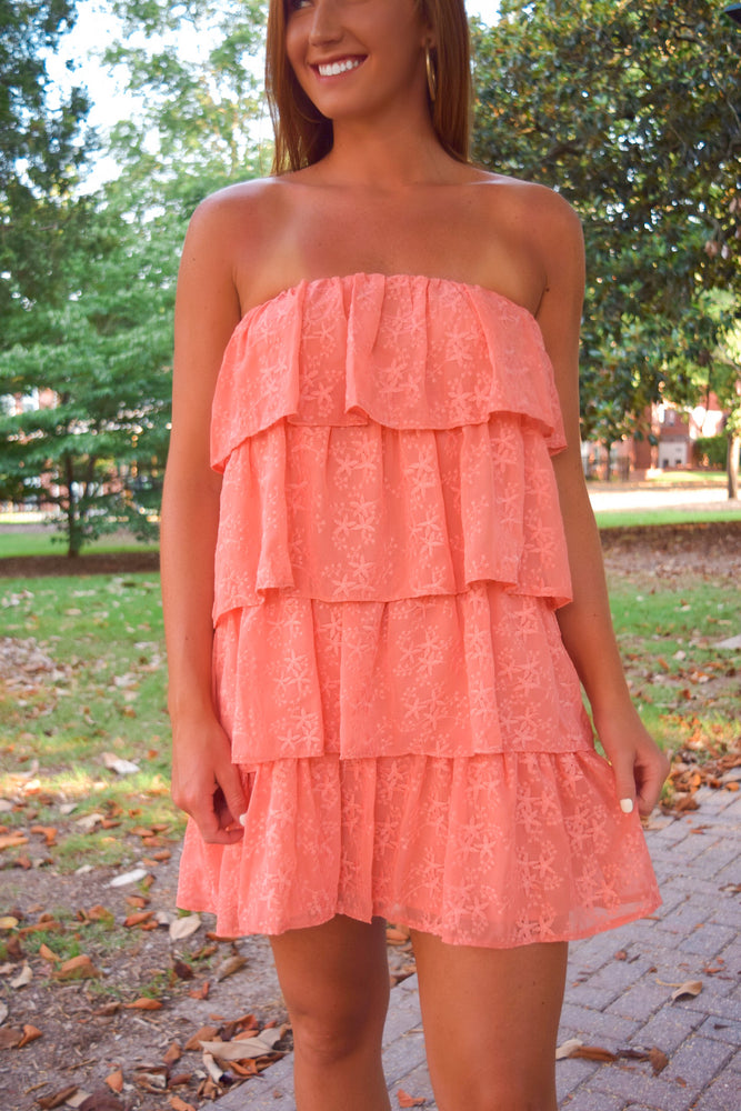 Cantaloupe Ruffle Dress