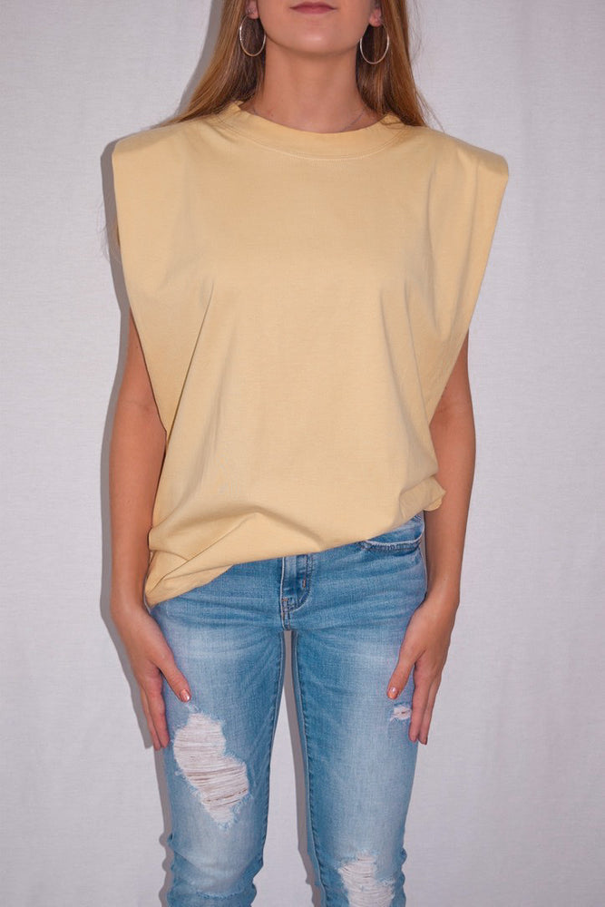 Jasmine Tee-Muted Yellow