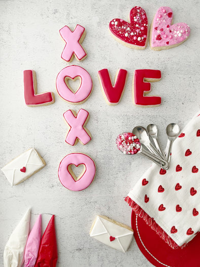 BakesyKit Valentine's LOVE XOXO Crossword Cookie Kit (Mix)