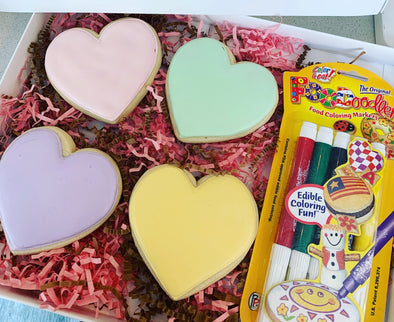Valentine's conversation heart cookies write your own message kit - Flowerbake by Angela