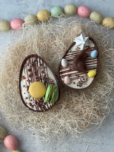 Cheesecake Filled Chocolate Egg