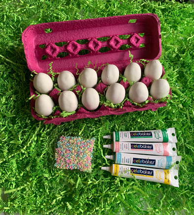 BakesyKit Easter Egg Cake Ball Decorating Kit - Flowerbake by Angela