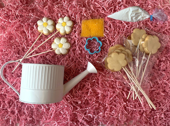 BakesyKit Mother's Day Flowers Cookie Kit (Baked Cookies) - Flowerbake by Angela