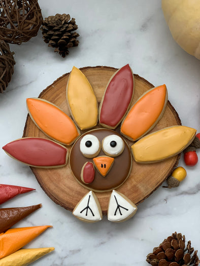 BakesyKit Thanksgiving Turkey Puzzle Cookie Kit (Baked)