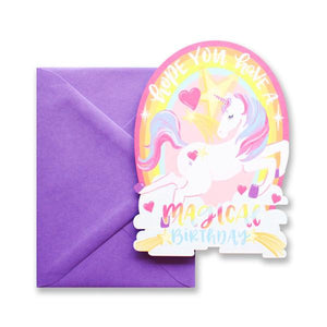 Unicorn Birthday Die Cut Card