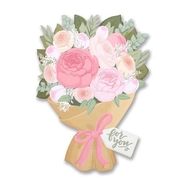 Flower Bouquet Card - Flowerbake by Angela