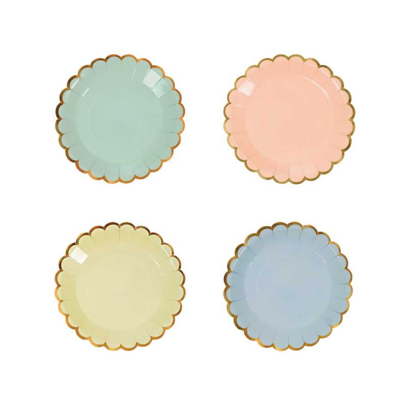 Pastel Canape Plates - Flowerbake by Angela