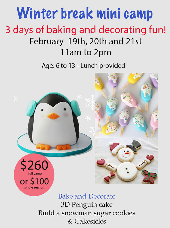 Winter Break Mini Baking Camp - Workshops - Flowerbake by Angela
