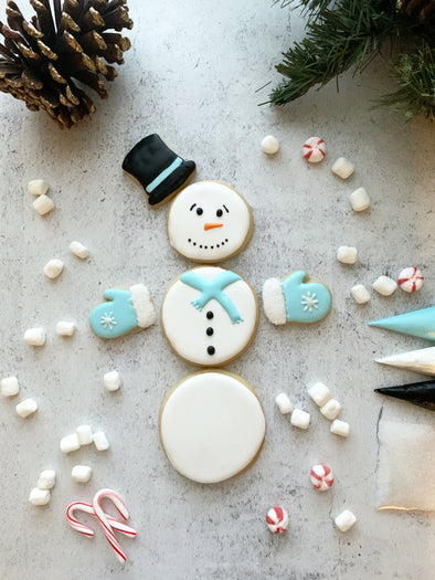 BakesyKit Holiday Snowman Puzzle Cookie Kit (Baked)
